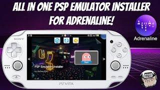 All In One PSP Emulator Installer For Adrenaline! [Vita Tutorial]