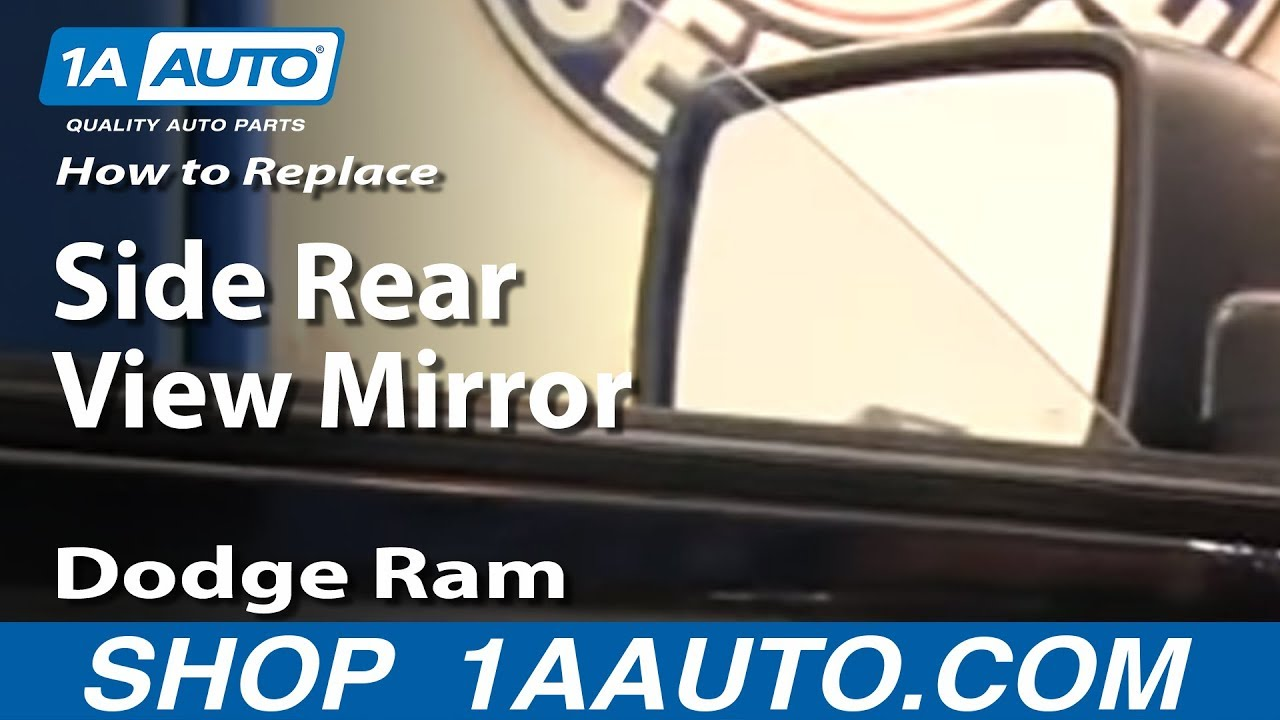 maxresdefault how to replace install side rear view mirror 2009 2012 dodge ram  at gsmx.co