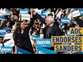 AOC Endorses Bernie Sanders for President at New York City Rally