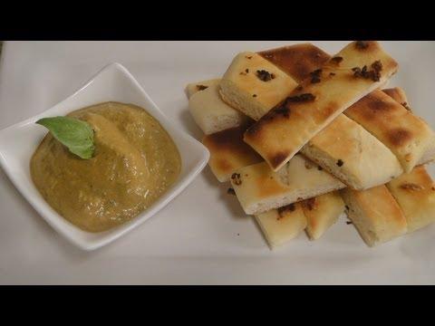 Pita With Roasted Bell Pepper And Walnut Dip | Sanjeev Kapoor Khazana