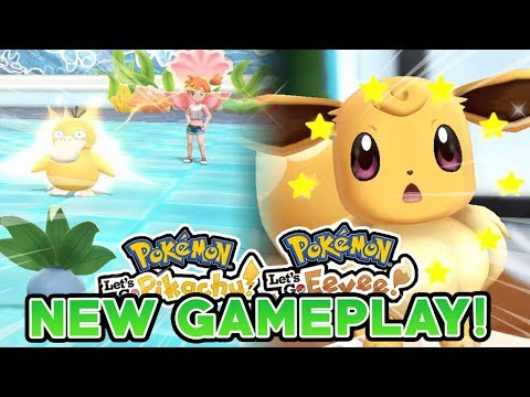 POKEMON LET'S GO PIKACHU & LET'S GO EEVEE NEW GAMEPLAY! CO-OP DURING GYM BATTLES!?