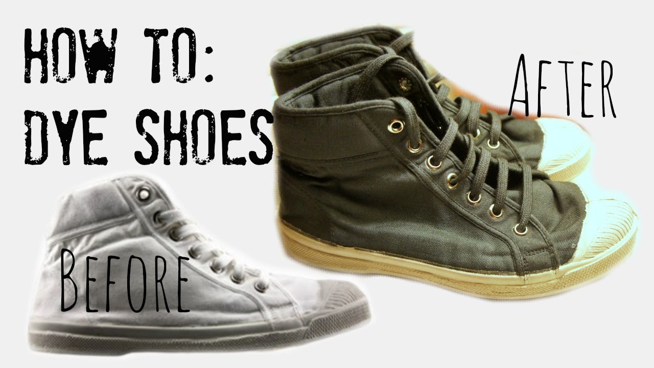 How To Make Canvas Shoes Black Again