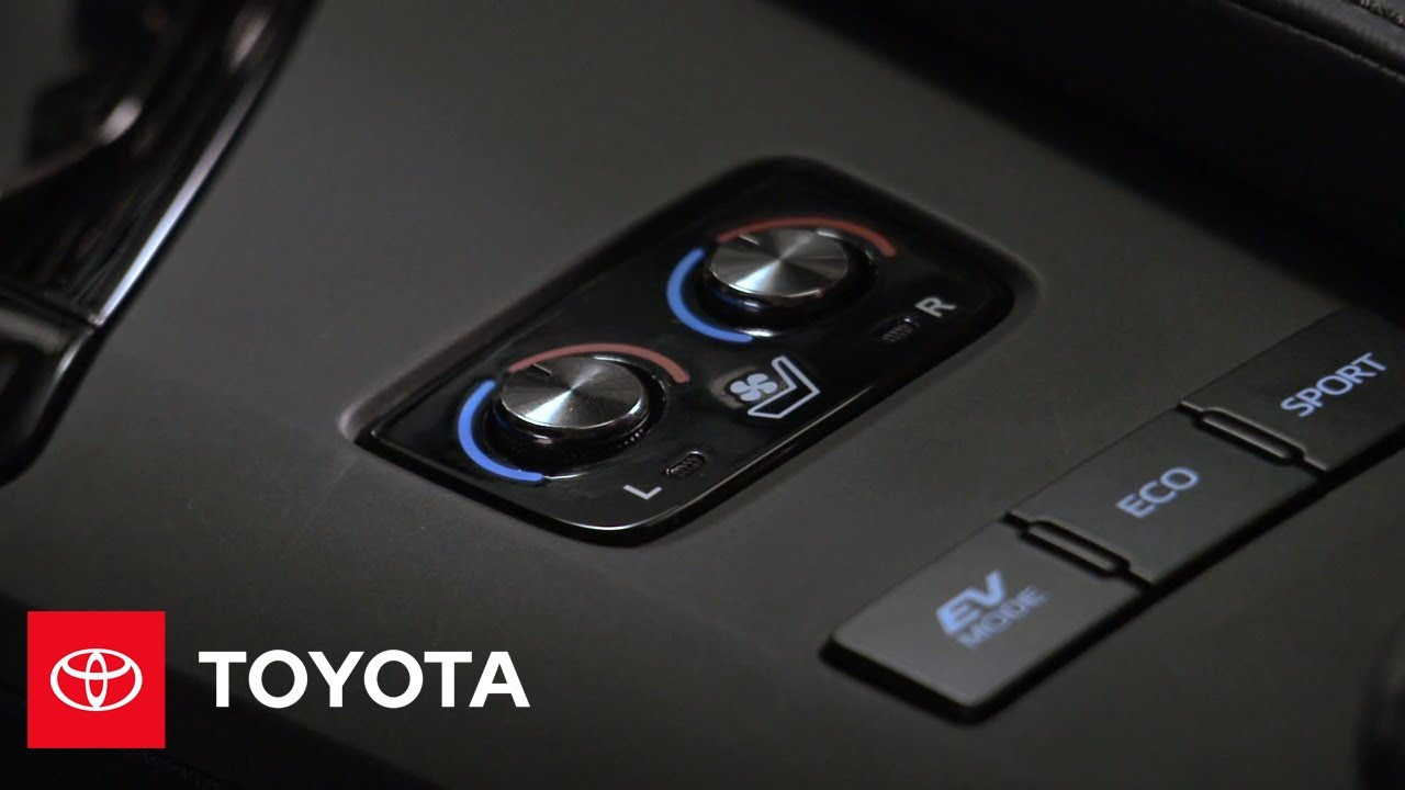 2017 Avalon How To Heated Ventilated Front Seats Toyota
