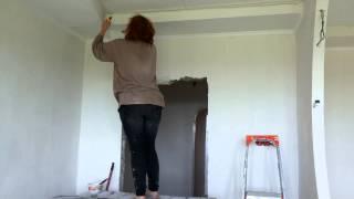 Ремонт квартир, обои под покраску(Флизелиновые обои под покраску - недорогой и практичный способ декорирования! Как видите, нетрудно сделать..., 2013-06-22T20:46:42.000Z)