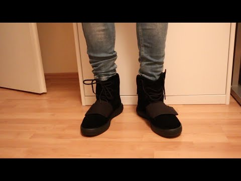 purchase cheap c53a1 5d255 Adidas Yeezy 750 Boost(BLACK) W/On Foot Review