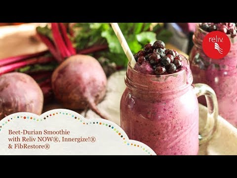 Beet-Durian Smoothie with Reliv NOW®, Innergize!® & FibRestore®