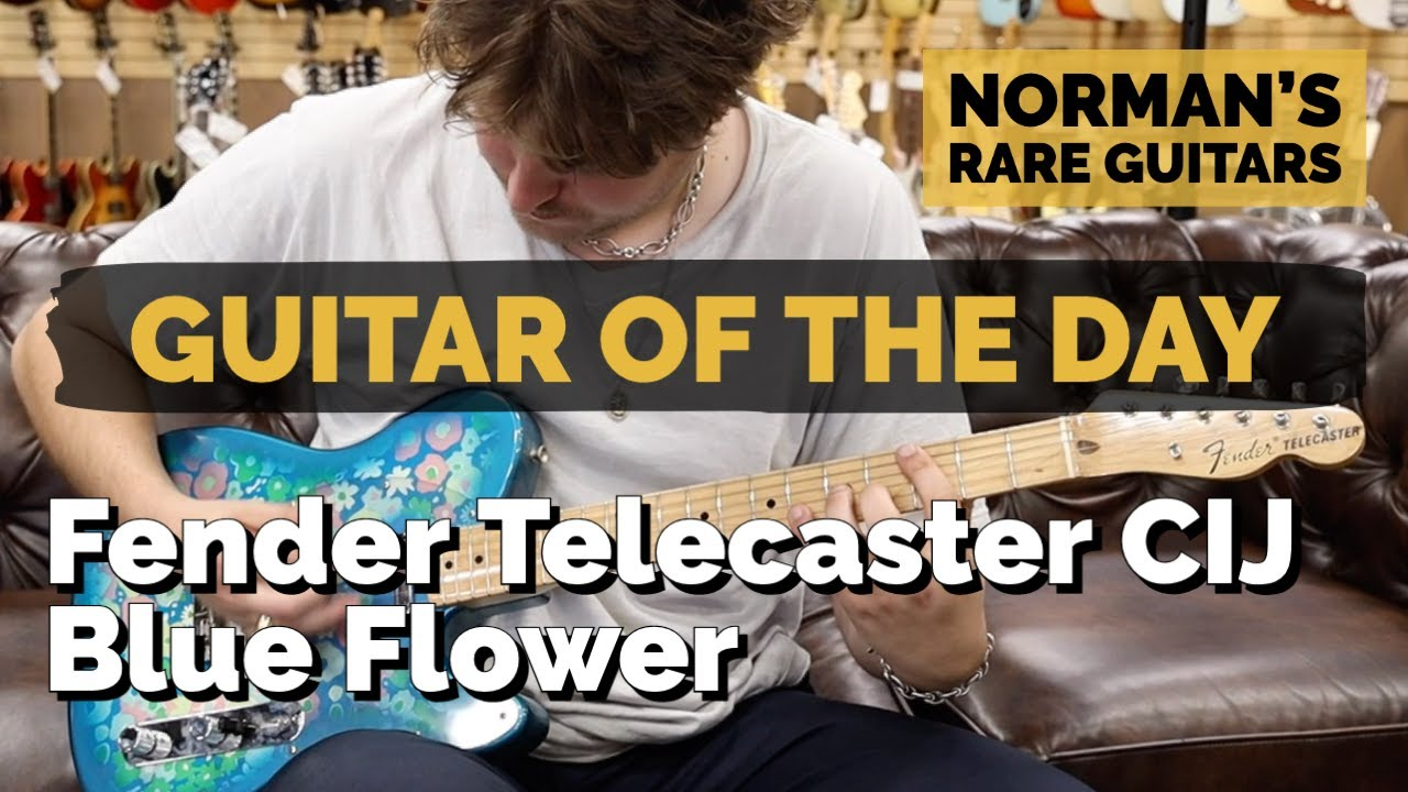 Guitar of the Day: Fender Telecaster Blue Flower Crafted In Japan   Norman's Rare Guitars