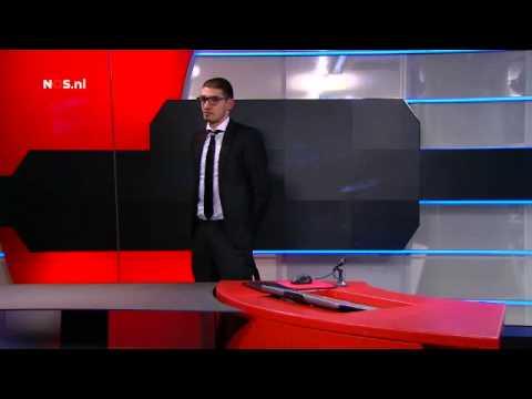 Beelden gewapende indringer eist uitzendtijd - NOS Journaal: 20:00 - 29 januari 2015 - NPO 1