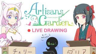 🔴[Cherry&Dahlia] Live Drawing