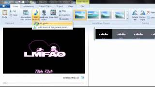 How to make a music video for beginners (Windows live movie maker)