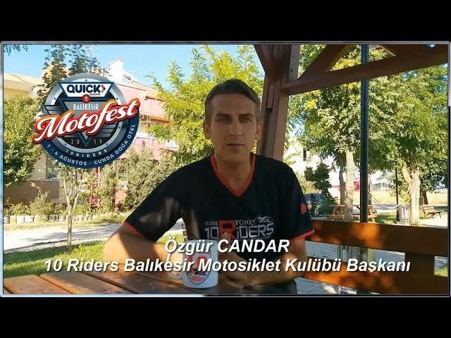 10 Riders Balıkesir MK Başkanı Özgür Candar'ın, Motosiklet RadyoTv'ye verdiği röportajı