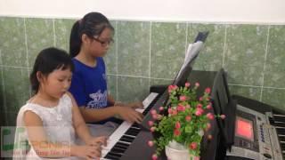 Lớp piano trẻ em Thủ Đức - Thùy Trang - Bích Hà Song tấu piano [TT Âm Nhạc Upponia - Tự Học Piano]