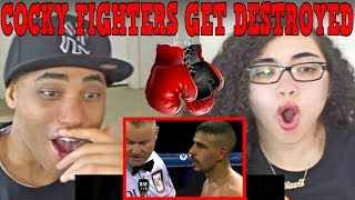 WHEN COCKY FIGHTERS GET DESTROYED PART 1 REACTION | MY DAD REACTS