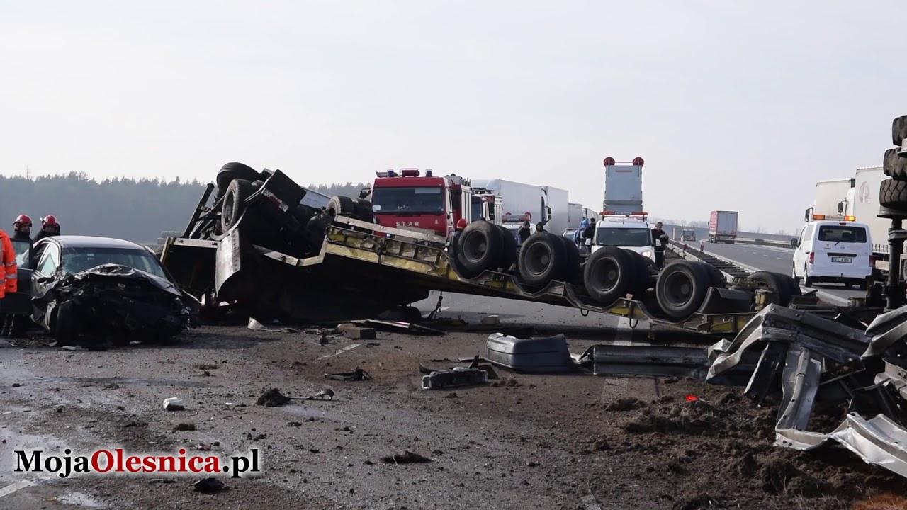 20.02.2018 Wypadek na S8 pod Szczodrowem