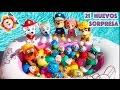 🐾 PATRULLA CANINA: 21 HUEVOS SORPRESA EN LA PISCINA! Kinder, Paw Patrol, Peppa Pig, Pokemon| Cap. 3