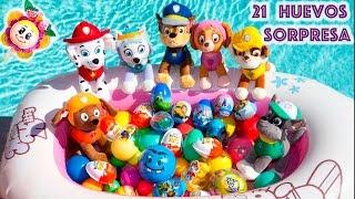 vuclip 🐾 PATRULLA CANINA: 21 HUEVOS SORPRESA EN LA PISCINA! Kinder, Paw Patrol, Peppa Pig, Pokemon  Cap. 3