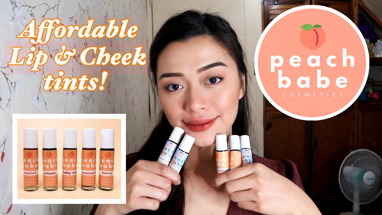AFFORDABLE LIP & CHEEK TINT!! BY PEACH BABE COSMETICS (REVIEW & SWATCHES) | Maria Selina