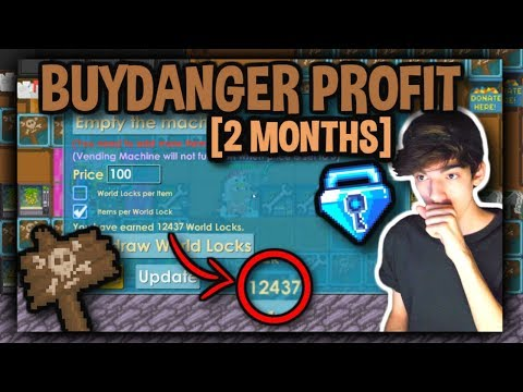 ALL PROFIT FROM BUYDANGER (2 MONTHS) | Growtopia