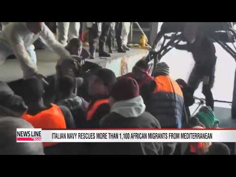Italian Navy rescues over 1,100 migrants