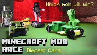 Minecraft Mob Race - Hot Wheels Diecast Car Racing