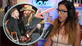 Vocal Coach Reacts - CHRIS STAPLETON & JUSTIN TIMBERLAKE Tennessee Whiskey/Drink You Away - CMA 2015