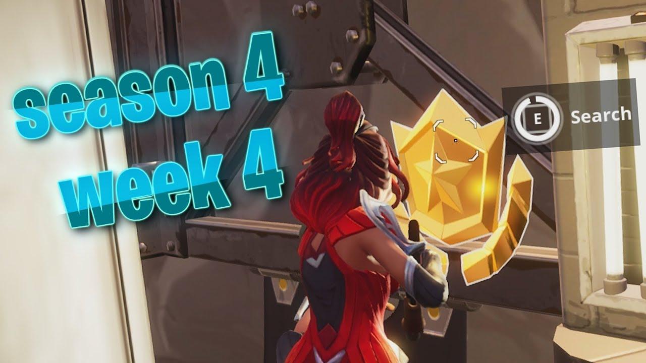New Fortnite Season 4 Week 4 Secret Wallpaper Easter Egg Youtube