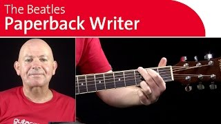 Paperback Writer by the Beatles Guitar Lesson - Intro Riff
