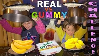REAL FOOD VS GUMMY FOOD CHALLENGE • Vraie nourriture ou Bonbons Challenge entre Soeurs - #SBT