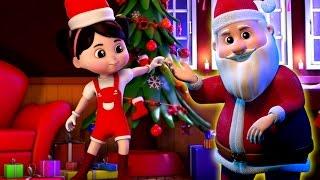 tinir Sinos | Canção para crianças | 3d Papai Noel rima | Xmas Carols | Jingle Bells For Kids