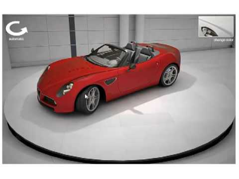 Web 3D Studio Interactive 3D Sports Car