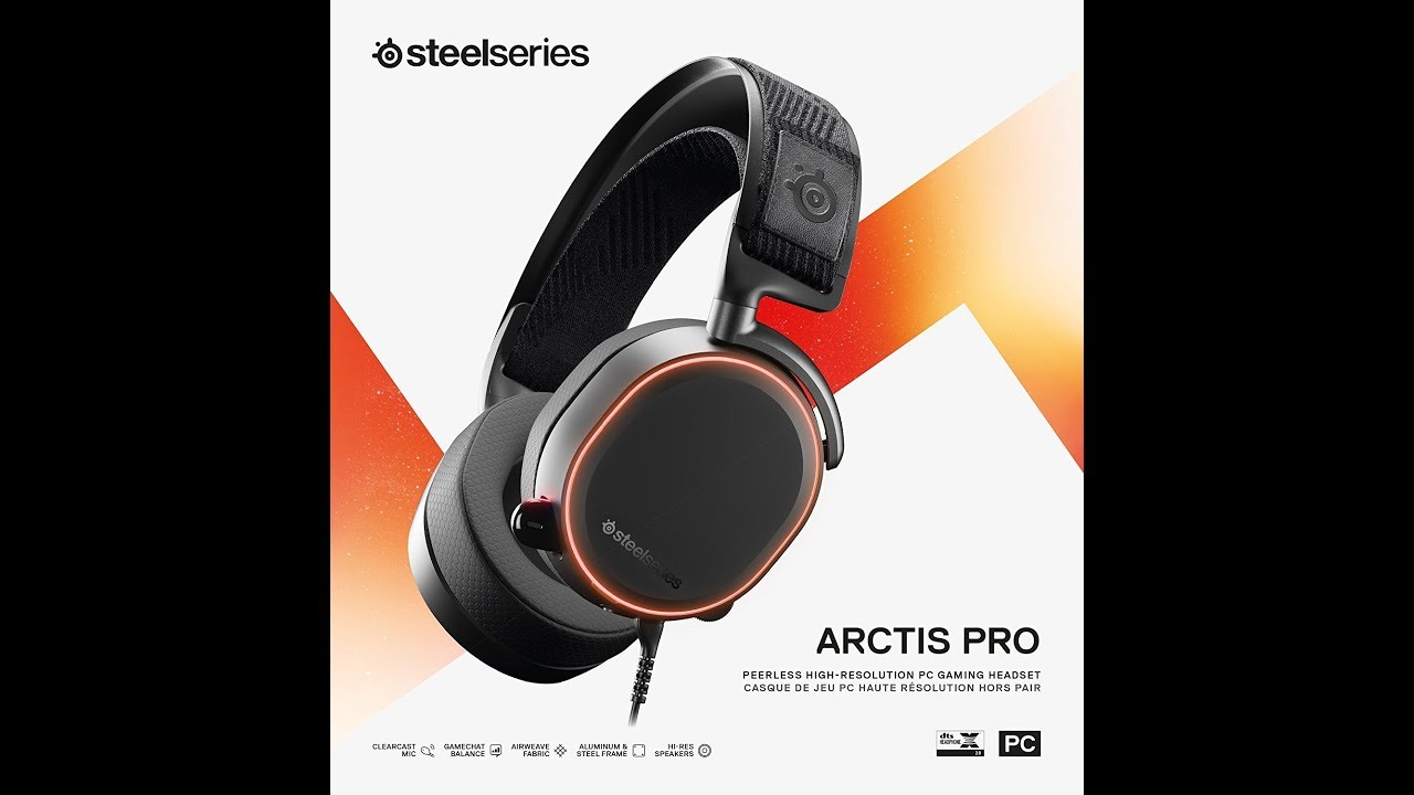 SteelSeries Arctis Pro Gaming Headset Unboxing