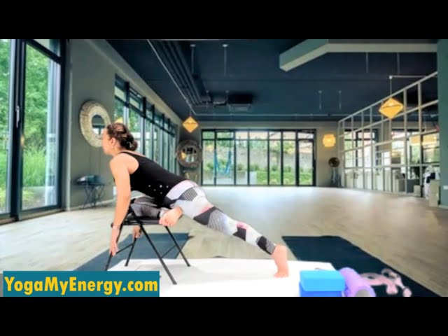 Chair Yoga for legs, hips, back, neck and shoulders