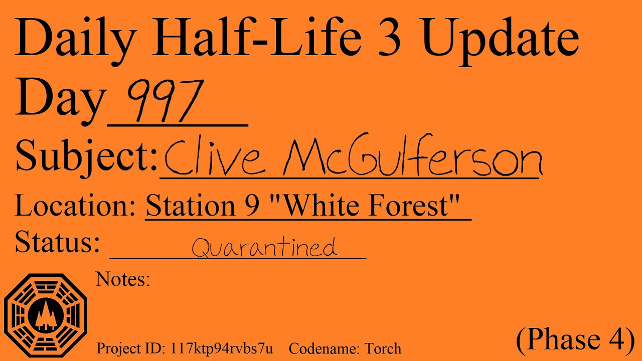 Daily Half-Life 3 Update: Day 997