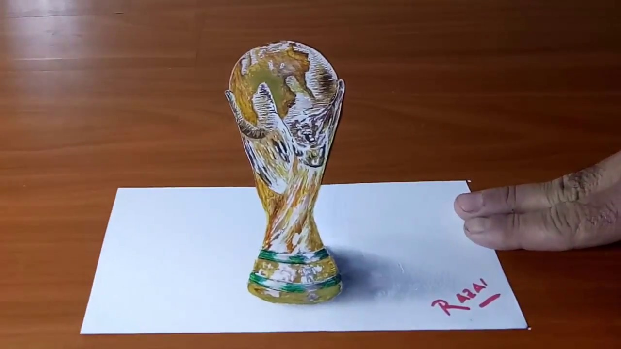 How To Draw 3d Illusion Fifa World Cup 2018 Fifa 2018 World