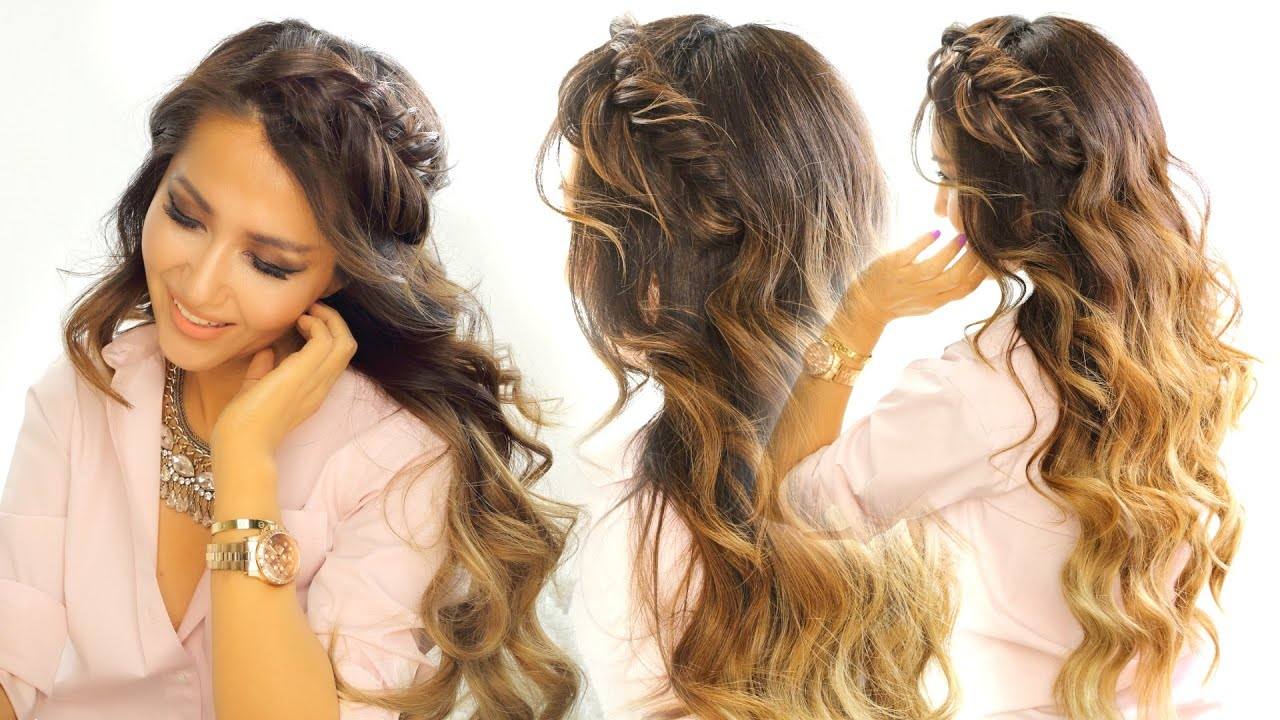 2 cute headband braid hairstyles