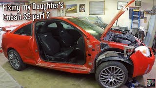 Rebuilding a Crashed Turbo Cobalt SS Part 2   Fitting replacement panels, putting junk back on