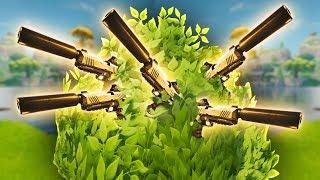 5 GOLD PISTOLS IN A BUSH (Fortnite Battle Royale)