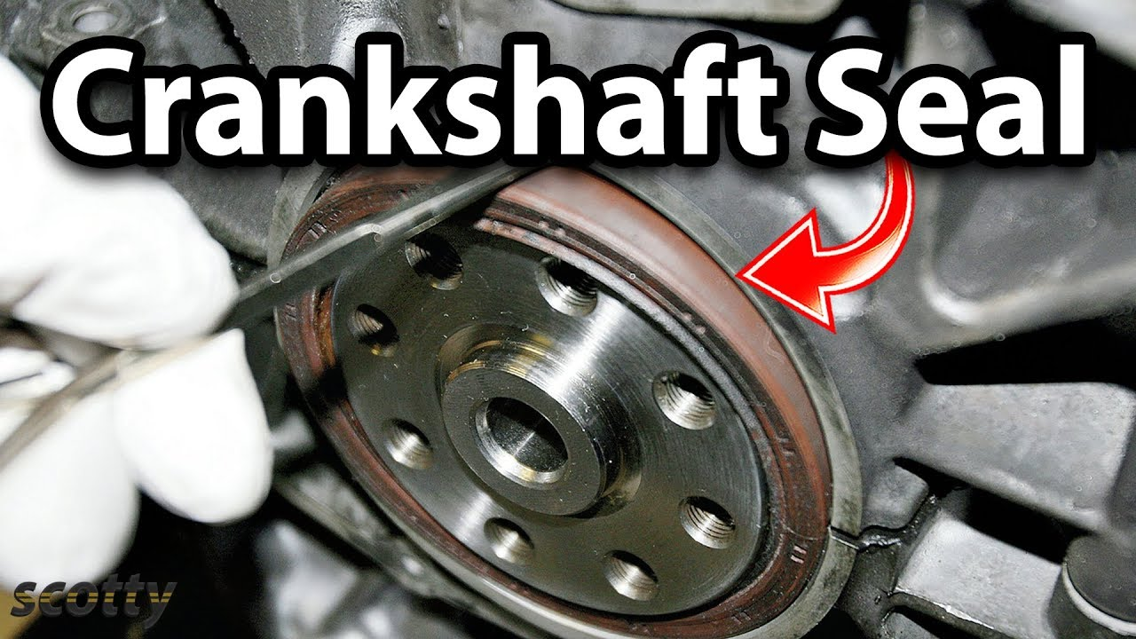 How to Replace Crankshaft Seal on Your Car  YouTube