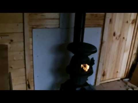 Install a cabin/shed wood stove - our garden chalet upgrade 2013 ...