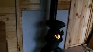 Install A Cabin/shed Wood Stove - Our Garden Chalet Upgrade 2013