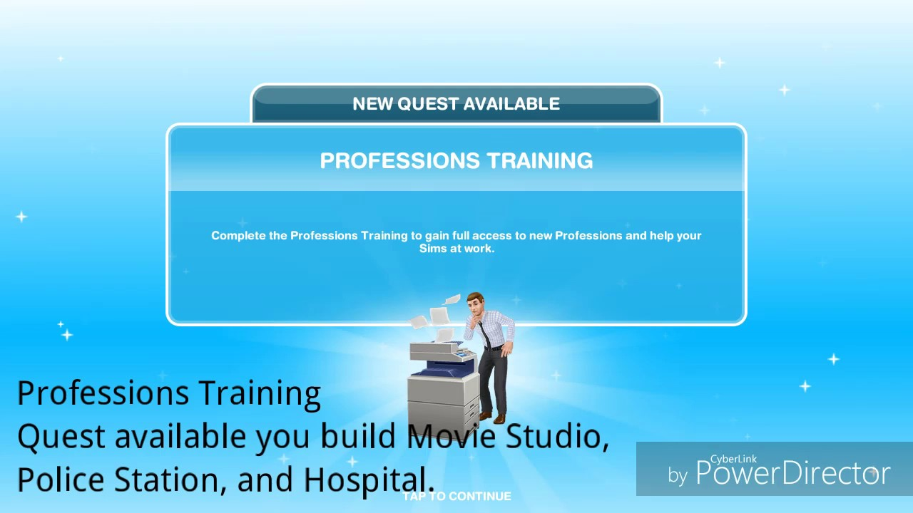 Download Sims FreePlay - Professions Training Quest