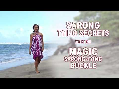 d3a2cf7e6d612 SARONG TYING SECRETS - with the MAGIC Pareo TYING BUCKLE - YouTube