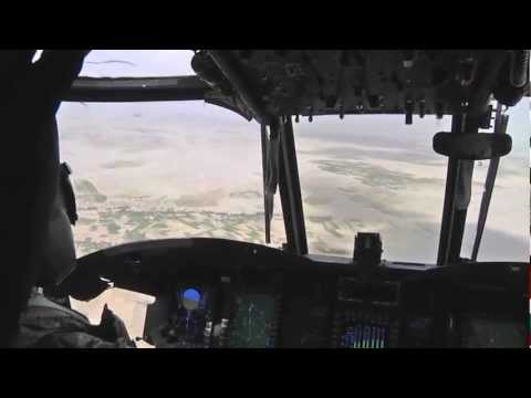 Task Force Corsair CH-47F Chinooks Over Afghanistan