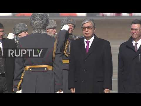 Russia: President of Kazakhstan Tokayev arrives in Moscow on first official visit