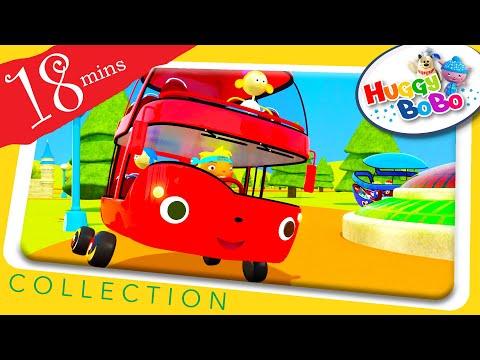 Wheels On The Bus | Plus Lots More Nursery Rhymes | By HuggyBoBo