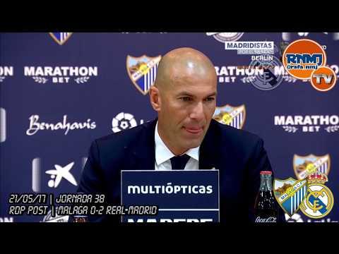 Rueda de prensa de Zidane Campeón de Liga Málaga 0-2 Real Madrid