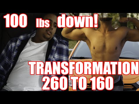 LOST 100 POUNDS! WEIGHT LOSS TRANSFORMATION 260 to 160! Face your Fears!