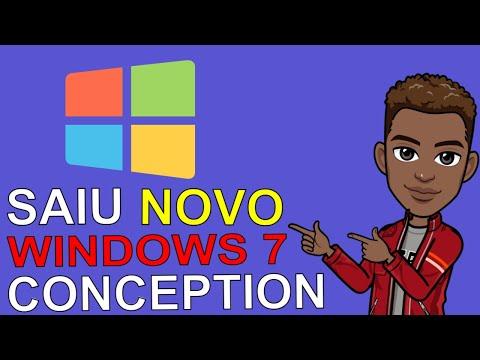 SAIU NOVO WINDOWS 7 CONCEPTION NOVAS FUNÇÕES 2021