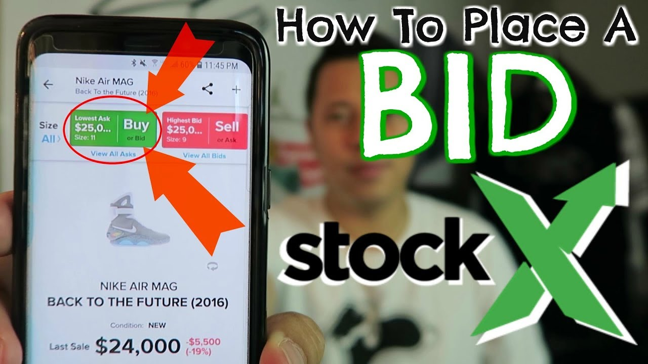 72c92132 How To Place A Bid On StockX - YouTube