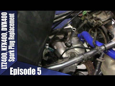 LTZ400, KFX400, DVX400 Spark Plug Install Episode 5
